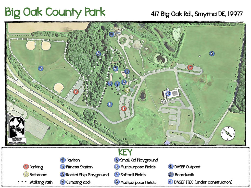 Big Oak County Park Map